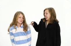 Het debatteren van zusters Royalty-vrije Stock Foto