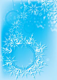 Het Decor Atmosphere_eps van de sneeuwvlok vector illustratie