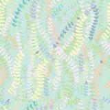 Het decor naadloos patroon van de bladeren klein vogel royalty-vrije illustratie