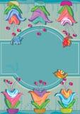 Het Decor Space_eps van de Pot van de bloem Royalty-vrije Stock Afbeelding