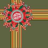 Het decor van de de groetgift van Kerstmis. Stock Foto's