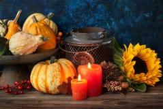 Het decor van de de herfstdankzegging Stock Fotografie