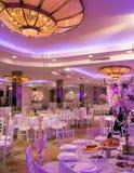 Het decor van de huwelijkslijst Stock Foto