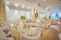 Het decor van de huwelijkslijst Stock Foto's