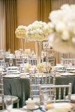 Het decor van de huwelijkslijst Stock Fotografie