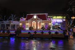 Het decor van de nieuwjaarstraat in Moskou Royalty-vrije Stock Foto