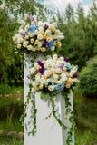 Het Decor van het bloemhuwelijk Stock Afbeelding