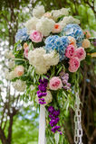 Het Decor van het bloemhuwelijk Stock Fotografie