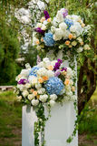 Het Decor van het bloemhuwelijk Stock Foto's
