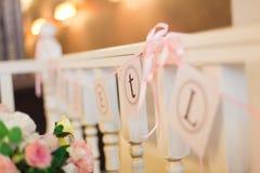 Het decor van het huwelijk Royalty-vrije Stock Afbeelding