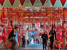 Het decor van Kerstmis bij havenstad, Hongkong Royalty-vrije Stock Foto's