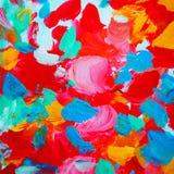 Het decoratieve abstracte schilderen voor binnenland, achtergrond, illustrat Stock Afbeelding