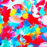 Het decoratieve abstracte waterverf schilderen, patroon, ziek malplaatje, Stock Foto
