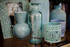 Het decoratieve decor van het vazen blauwe huis Royalty-vrije Stock Afbeelding