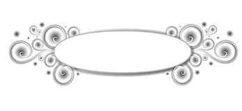 Het decoratieve Embleem van het Web van Spiralen stock illustratie