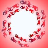 Het decoratieve kader van de ornamentbrand Royalty-vrije Stock Afbeeldingen