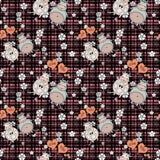 Het decoratieve naadloze patroon met grappige dieren, stikt het ontwerp, voor kinderen Royalty-vrije Stock Foto