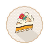 Het decoratieve ontwerp van het malplaatjekader met cakestuk, Royalty-vrije Stock Afbeeldingen