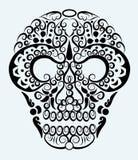 Het decoratieve ornament van de schedel Stock Afbeelding