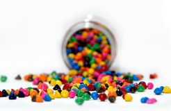 Het decoratieve suikergoed bestrooit stock afbeeldingen
