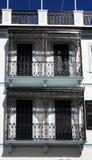 Het decoratieve traliewerk van balkons Stock Fotografie