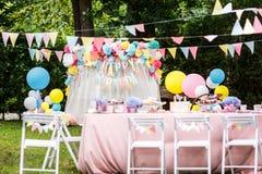 Het decorballons van de verjaardagspartij stock foto