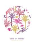 Het decorpatroon van de palmen naadloos cirkel Royalty-vrije Stock Afbeelding