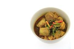 Het deeg van de Thaifoodkerrie en Chili Pork-been Royalty-vrije Stock Foto
