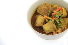 Het deeg van de Thaifoodkerrie en Chili Pork-been Stock Foto