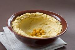 Het deeg van ?hickpea. Hummus Royalty-vrije Stock Fotografie