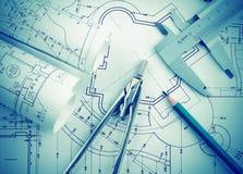 Het deel van architecturaal project vector illustratie