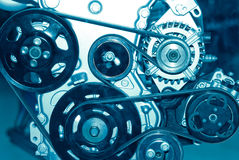 Het deel van de motor van een auto stock afbeeldingen