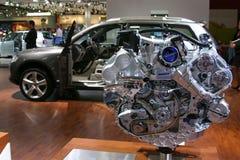 Het deel van de motor van een auto Stock Foto's