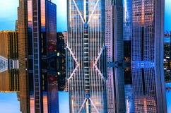 Het deel van een wolkenkrabber-stedelijk de bouwdeel royalty-vrije stock foto's