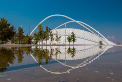 Het deel van Olympisch Atletisch Centrum van Athene Spiros Louis, Griekenland Stock Foto's
