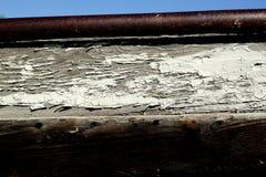 Het deel van oude vissersboot stock foto