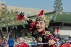 Het deelnemen met samoeraienkostuum tijdens 117ste Gouden Drago Royalty-vrije Stock Fotografie