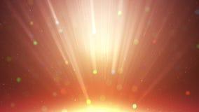 Het deeltjesgoud schittert met het stof abstracte achtergrond van de stralen lichte toekenning vector illustratie