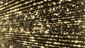 Het deeltjesgoud schittert van het toekenningsstof abstracte lijn als achtergrond stock videobeelden