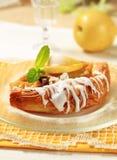 Het Deens gebakje van de appel stock afbeeldingen