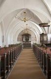 Het Deense binnenland van de dorpskerk. Royalty-vrije Stock Fotografie