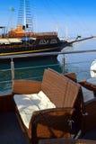 Het dek Griekenland van het cruiseschip Stock Foto