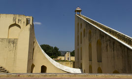 Het dek van de observatie in Jantar Mantar (Jaipur), India Royalty-vrije Stock Foto's