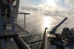 Het dek van het schip royalty-vrije stock afbeeldingen