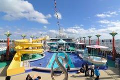 Het Dek van het Schip van de cruise Royalty-vrije Stock Foto