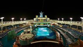 Het Dek van het Schip van de cruise Stock Foto's