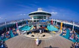 Het Dek van het Schip van de cruise Royalty-vrije Stock Afbeeldingen