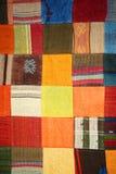 Het dekbed van het lapwerk Stock Afbeeldingen