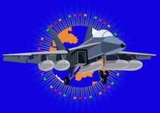 Het dekvliegtuigen van de vechter royalty-vrije illustratie