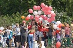 Het delen van baloons Stock Afbeelding